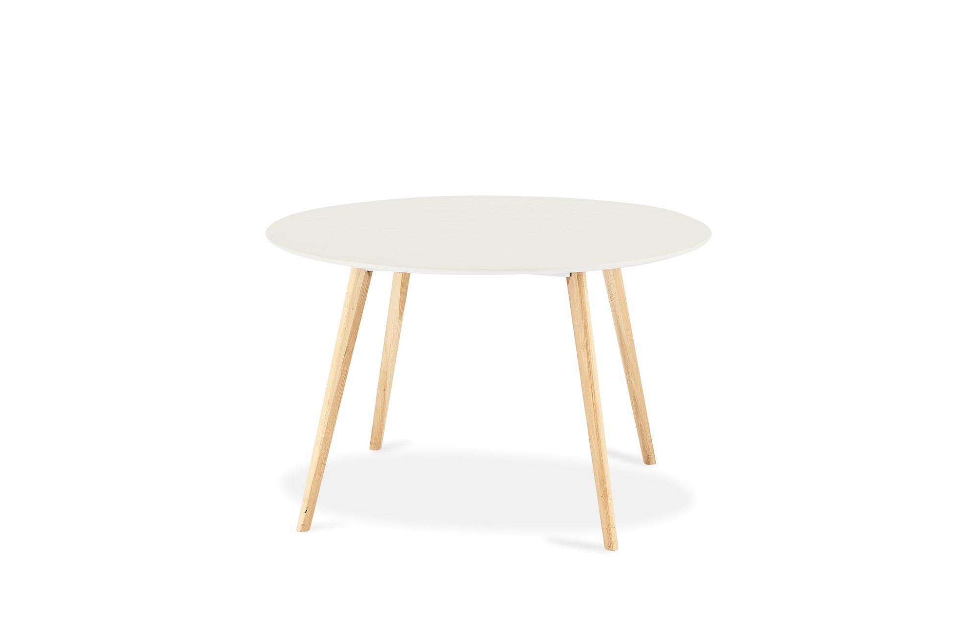Jídelní stůl Aaden, bílá / dub