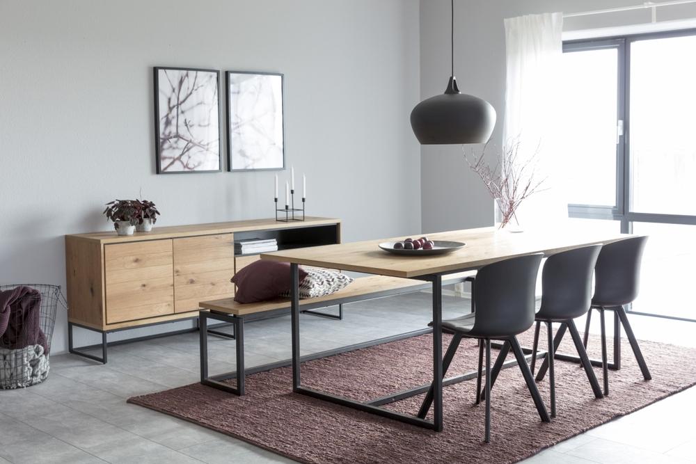 Jídelní stůl Nadira 160 cm divoký dub