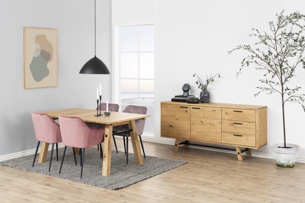 Jídelní stůl Nayana 160 cm broušený divoký dub