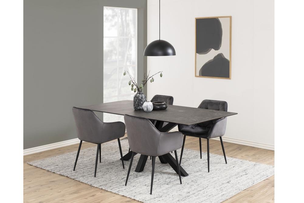 Jídelní stůl Neel 200 cm černý