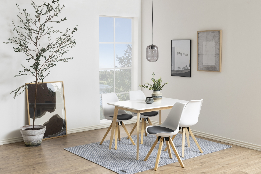 Jídelní stůl Niecy 120 cm bílý lakovaný