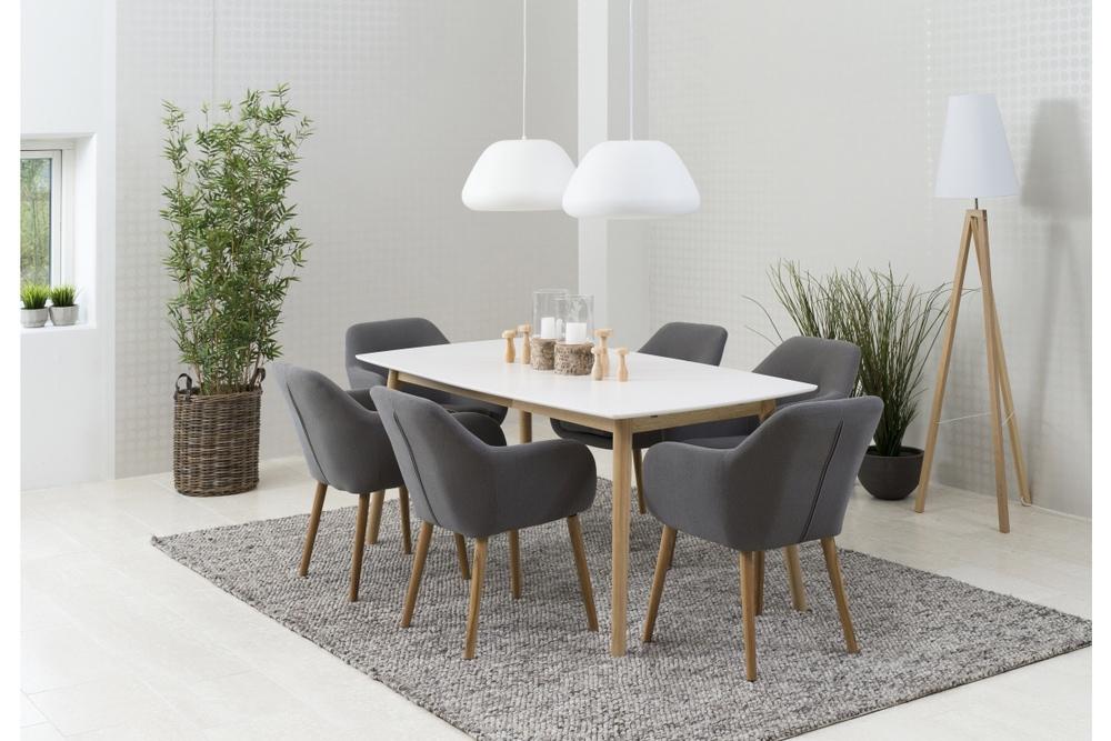 Jídelní stůl rozkládací Naiara 180/280 cm dub bílý