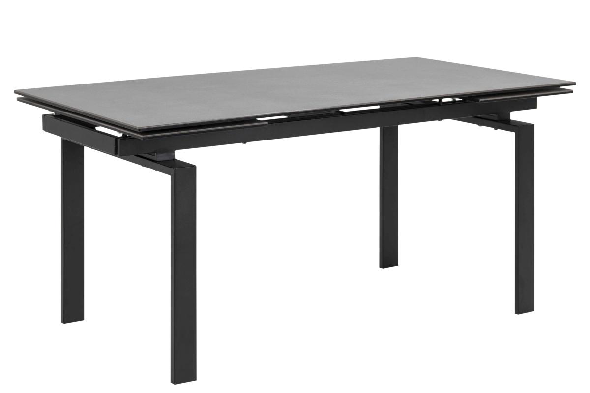 Jídelní stůl rozkládací Neema 160/240 cm černé sklo