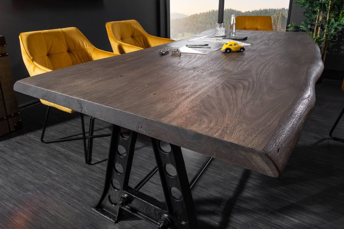 Jídelní stůl Massive Industrial 220cm šedá akácie