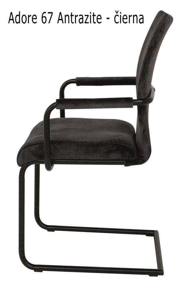 Jídelní židle Gwan velur s opěrkami