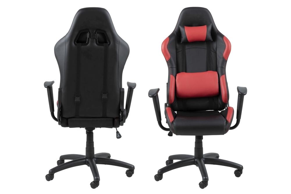 Kancelářská židle Natalee černá-červená