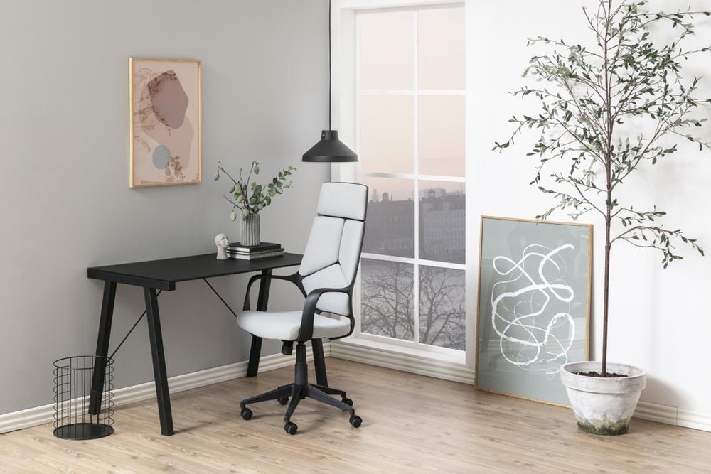 Kancelářská židle Nataleia světle šedá