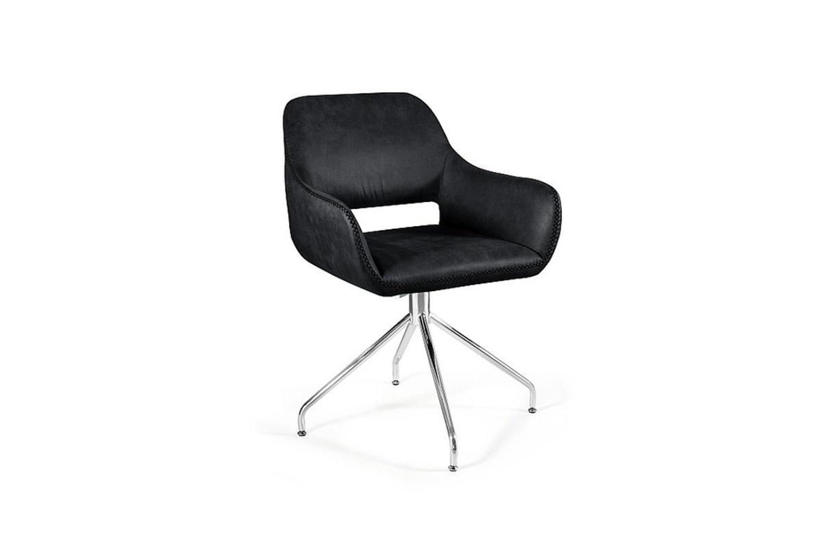 Designové otočné křeslo Kellan, černé