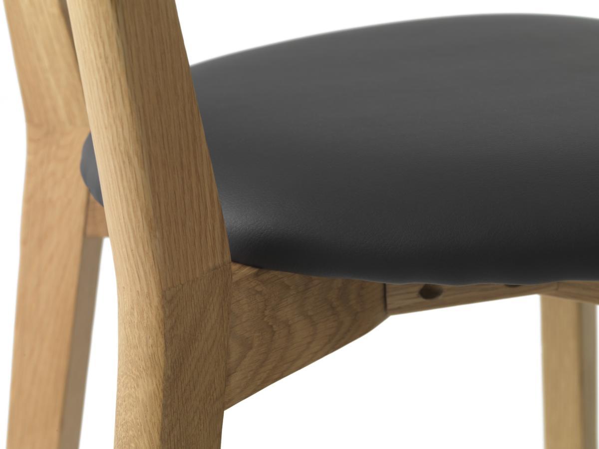 Designová barová židle Kian přírodní - černá - poslední kus