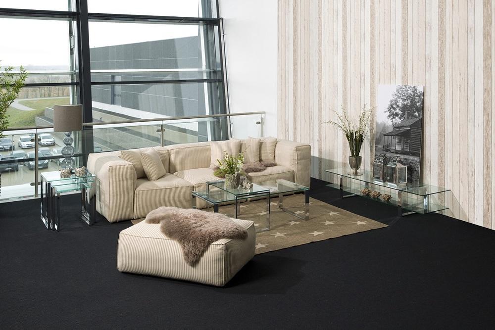 Konferenční stolek 2-set Akamu čiré sklo