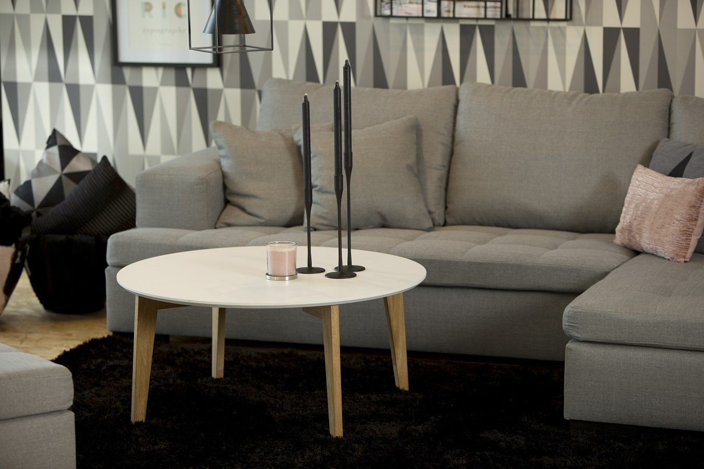 Konferenčný stolík Agassi, 90 cm