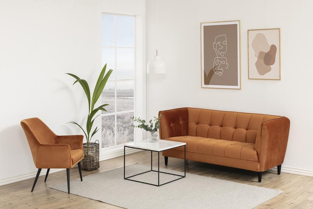 Konferenční stolek Ahman mramor / černá