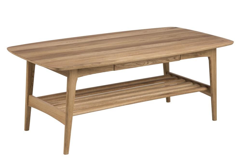 Konferenční stolek se zásuvkou Abishai 130 cm