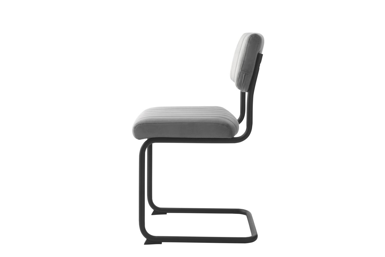 Konzolová židle Javon šedý samet