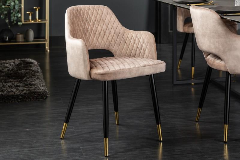 Designová židle Laney růžový samet - Skladem na SK (RP)