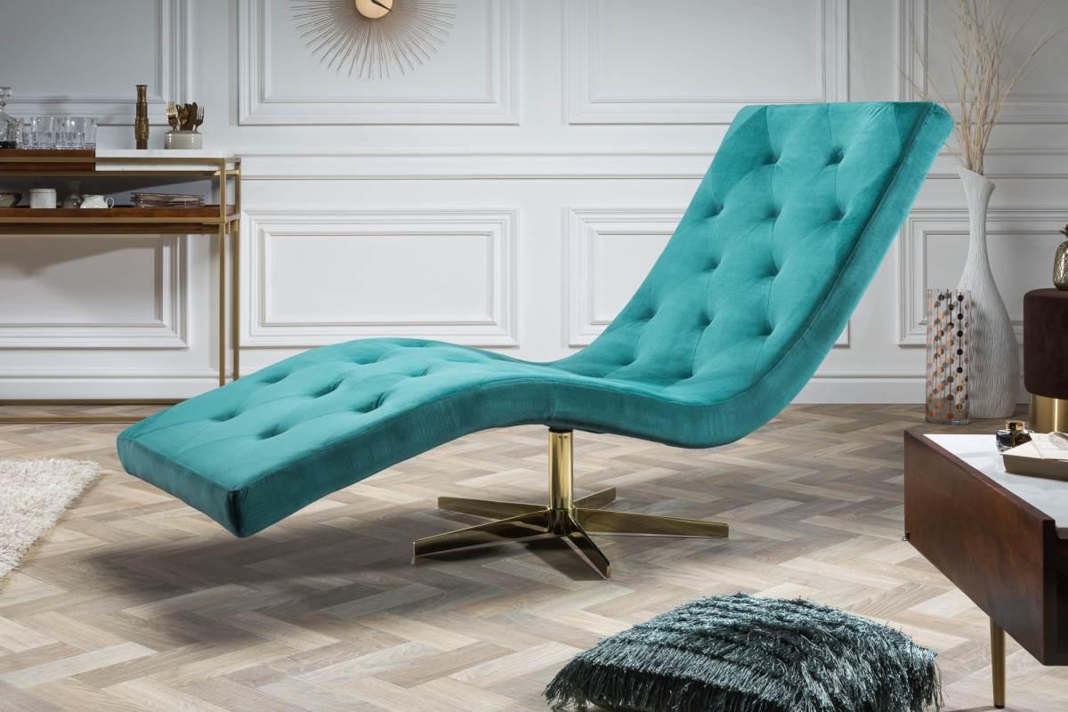 Luxusní relaxační křeslo Rest tyrkysové, hvězdicová podnož
