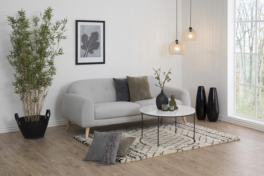 Luxusní konferenční stolek Ahman mramor / černá