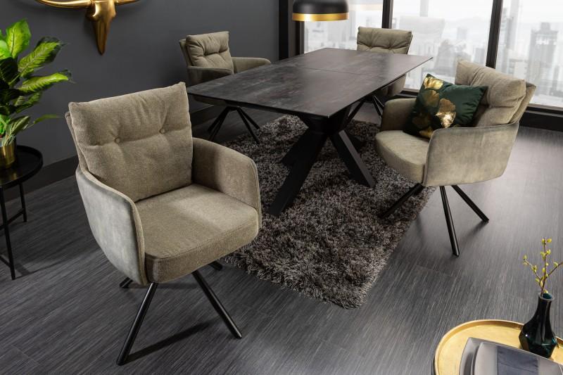 Designová otočná židle Maddison zelená