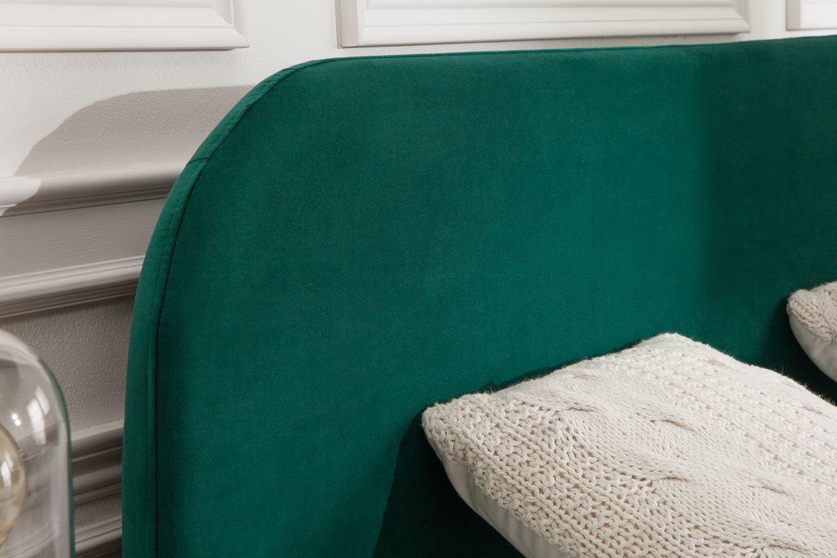 Manželská postel Lena 140 x 200 cm - smaragdový samet