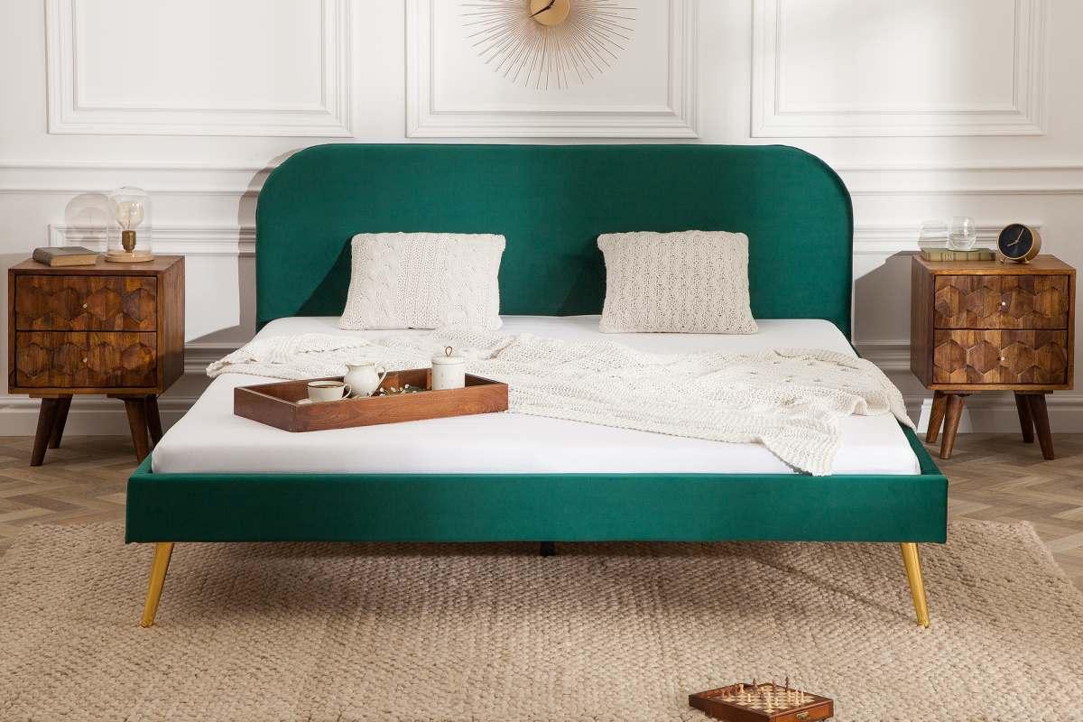 Manželská postel Lena 160 x 200 cm - smaragdový samet