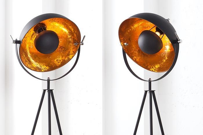 Stojanová lampa Stage 140 černo zlatá