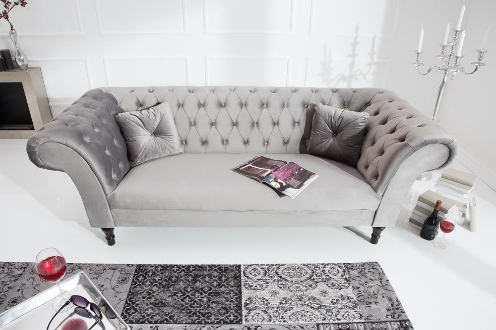 Designová sedačka Rubbi 230 cm / stříbrno-šedá