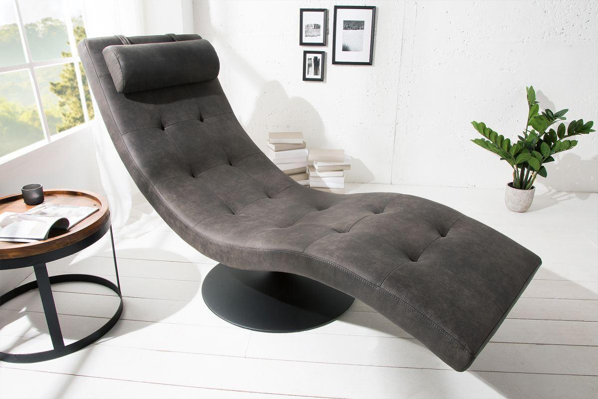 Luxusní relaxační křeslo Rest šedé