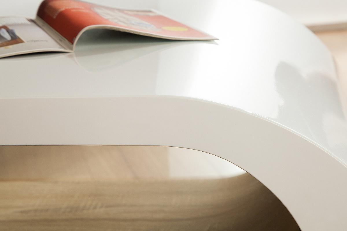 Konferenční stolek Grady 110 cm bílý/dub