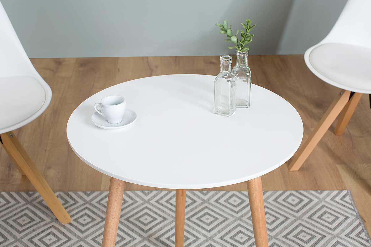 Barový stolek Sweden 60 cm bílý