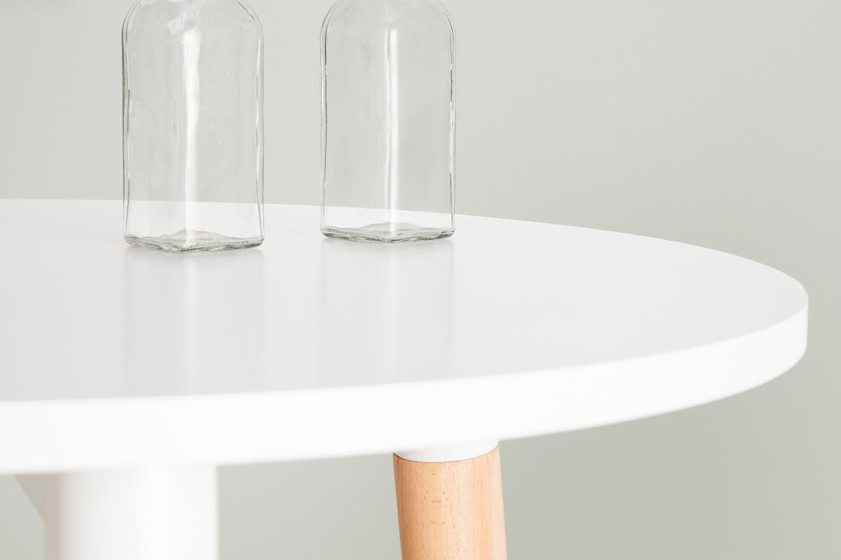 Barový stolek vysoký Sweden 105 cm bílý