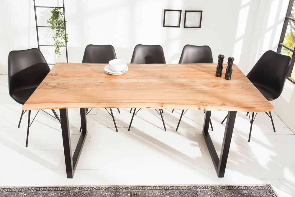 Luxusní jídelní stůl z masivu Massive 180cm Black