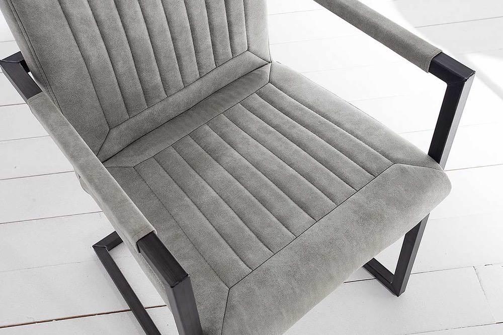 Jídelní židle Madilyn šedá / područky