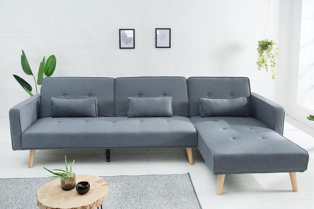 Rohová sedačka rozkladací Norway - sivá