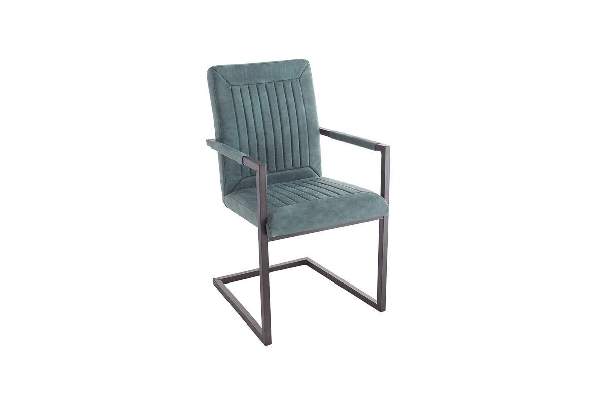 Jídelní židle Madilyn tyrkysová / područky
