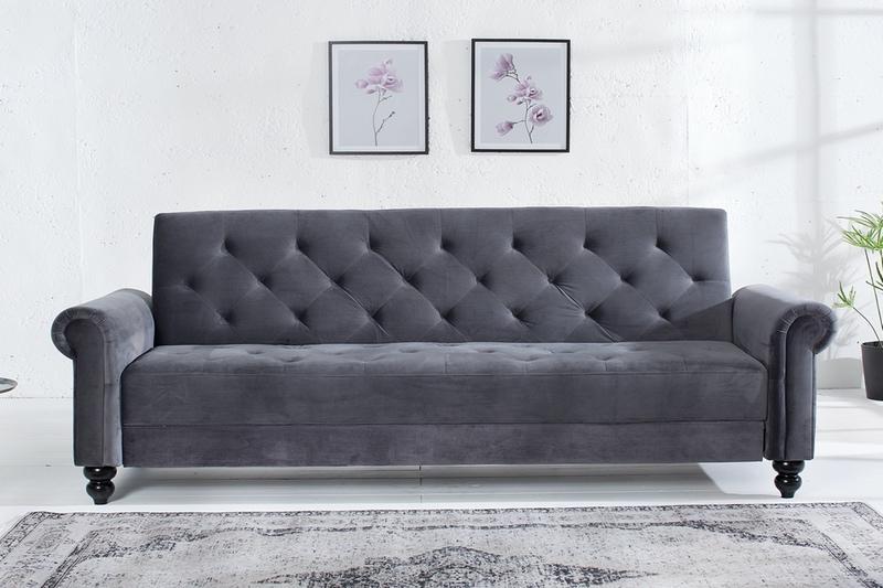 Designová pohovka Scarlet rozkládací / sivá