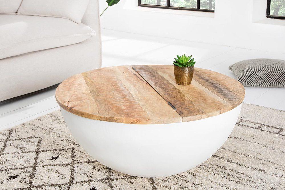 Designový konferenční stolek Malia bílý