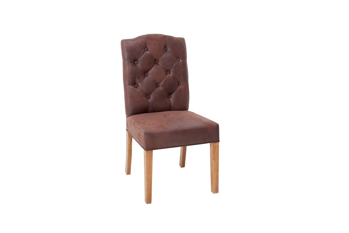 Designová židle Queen hnědá kávová