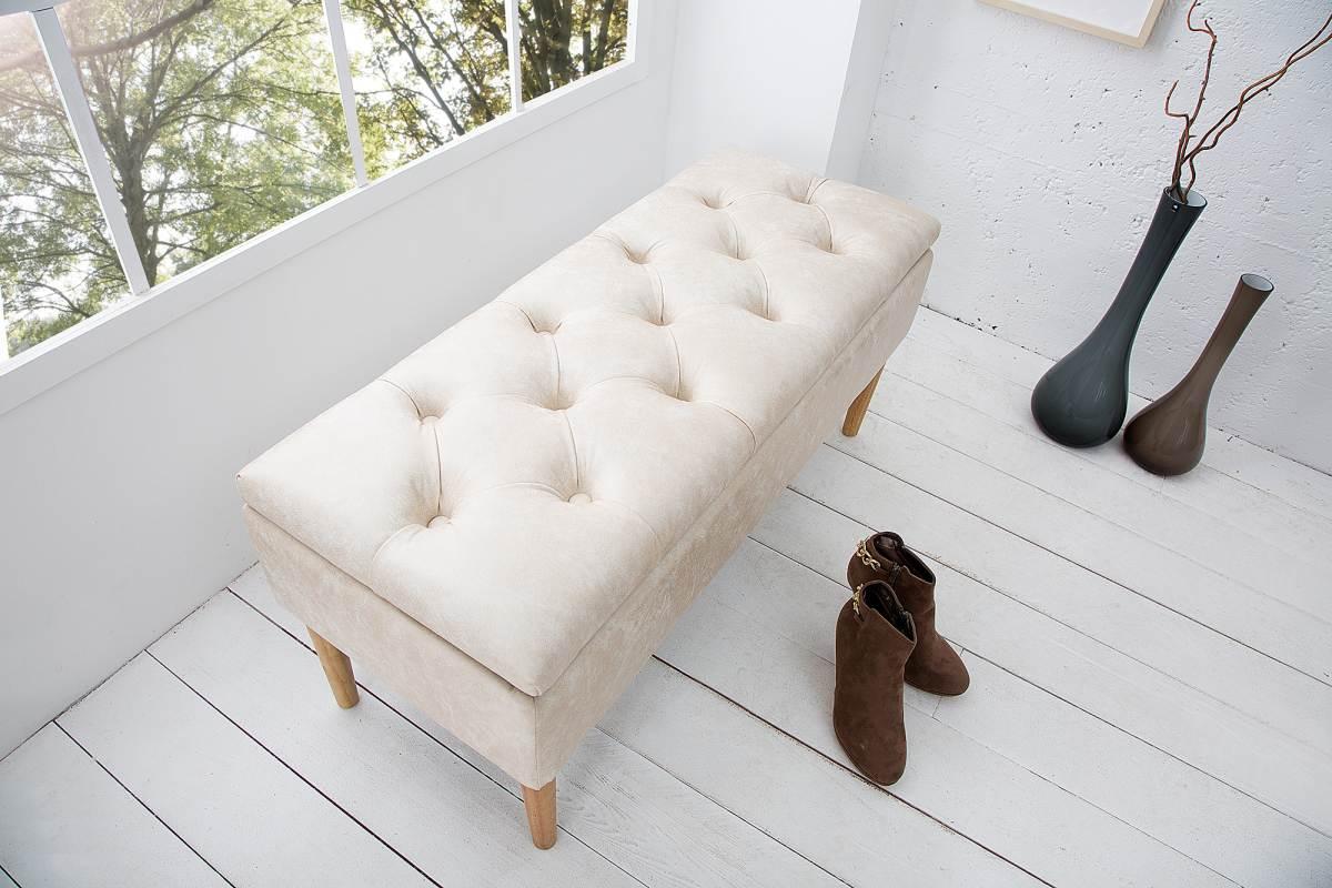 Luxusní lavice Queen béžová
