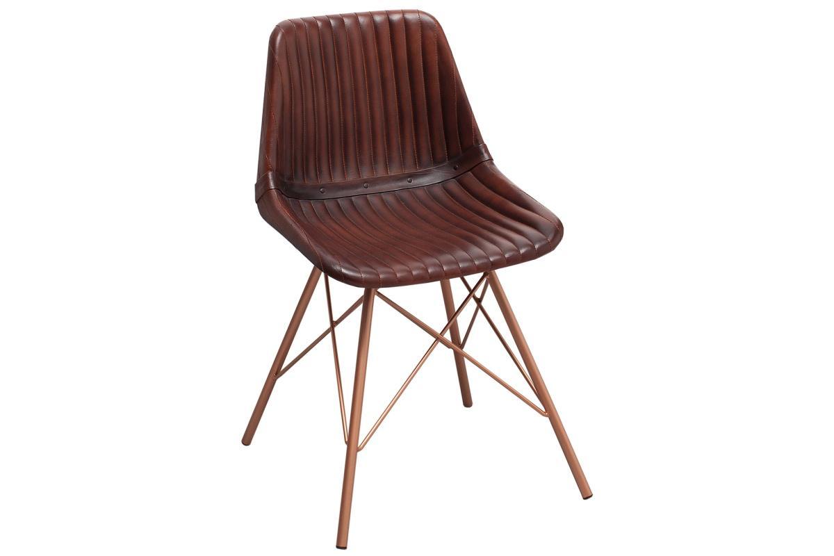 Designová židle Audrina hnědá