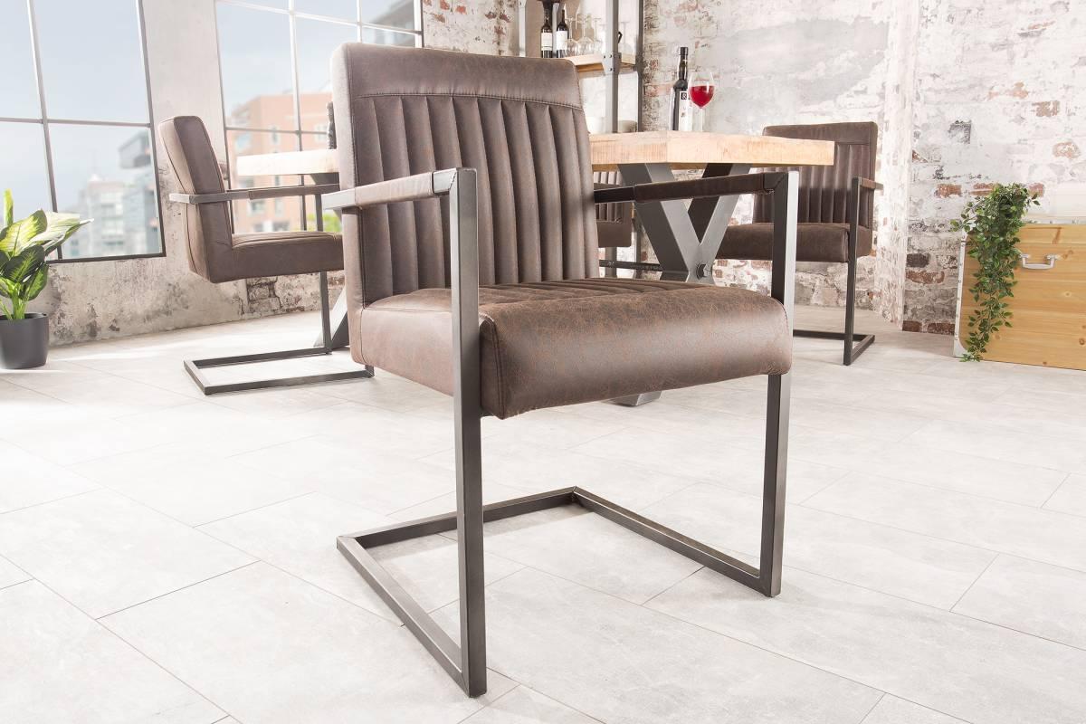Jídelní židle Maddison vintage hnědá