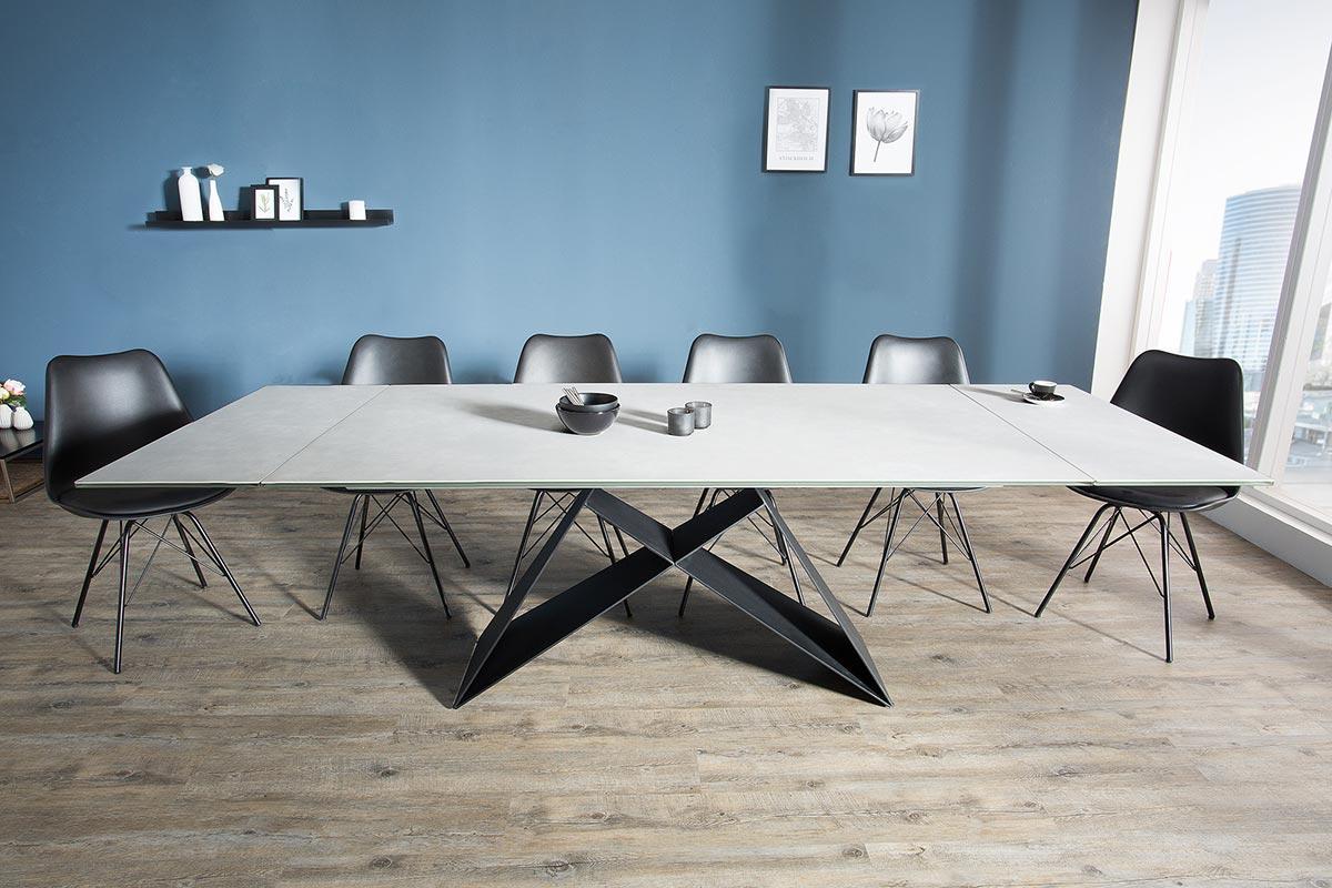 Jídelní stůl rozkládací Brock šedý 180-260 cm