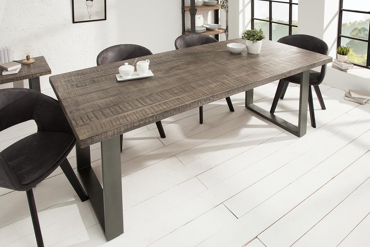 Luxusní jídelní stůl Thunder 200 cm šedé mango