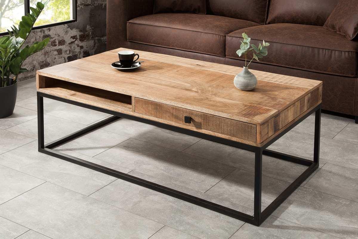 Konferenční stolek se zásuvkou Thunder 115 cm mango