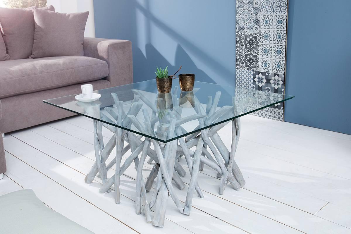 Dizjanový konferenční stolek Twig, šedý