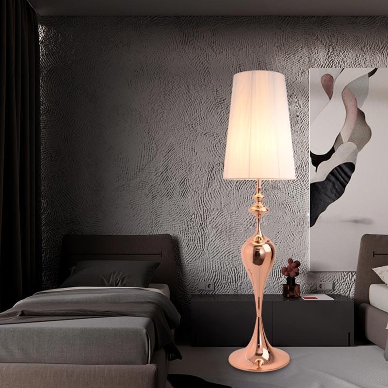 Stojanová lampa Adalynn 160 cm růžovo-zlatá