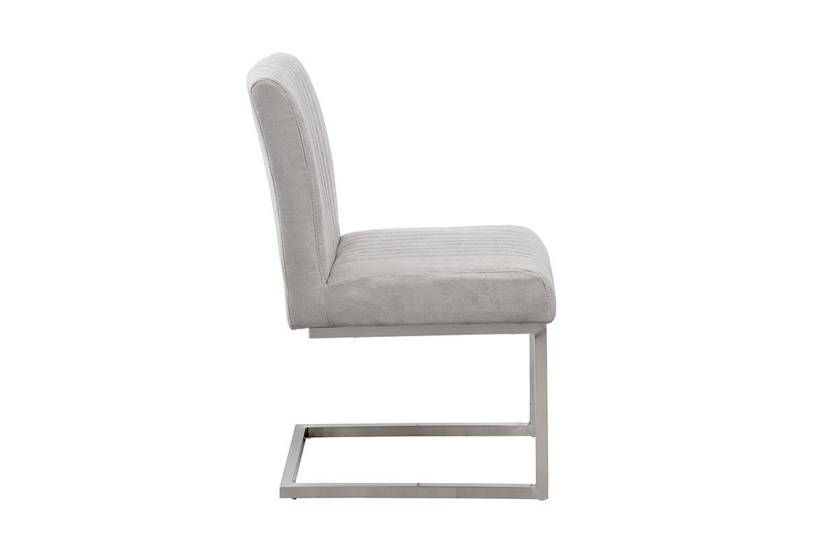 Židle Boss II šedá / stříbrný rám
