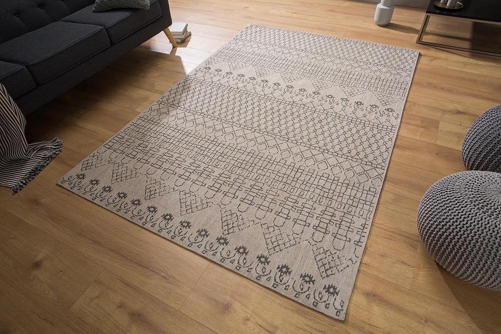 Designový koberec Kelly 240x160 béžový / černý vzor
