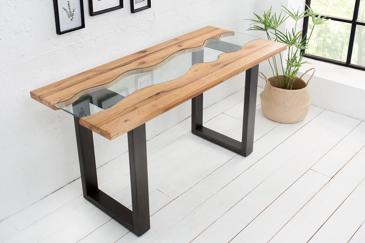 Psací stůl / konzola Owen 140 cm divoký dub