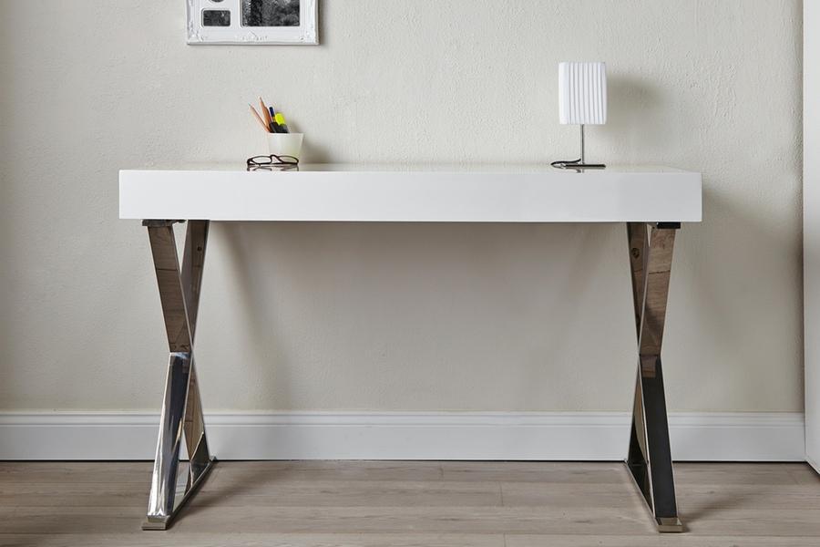 Luxusní psací stůl Goodwill bílý 100