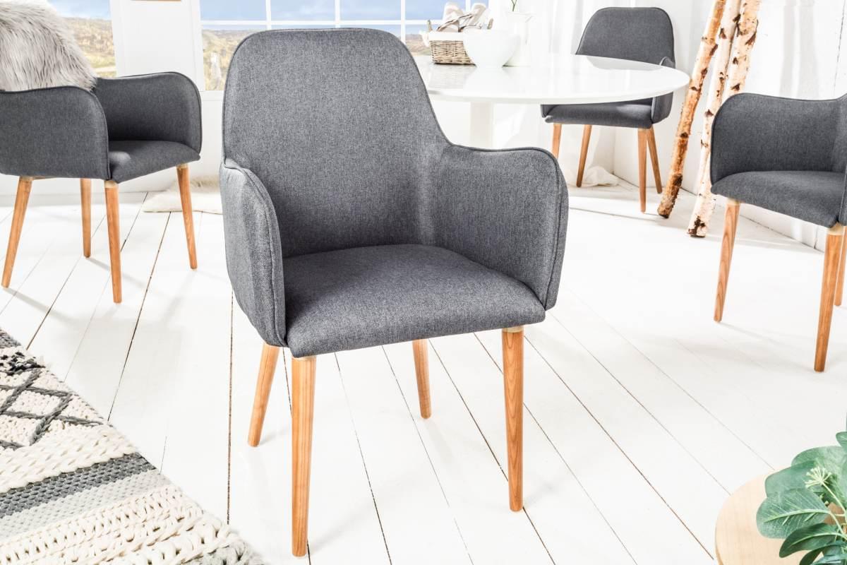 Designová židle Norway, tmavě šedá